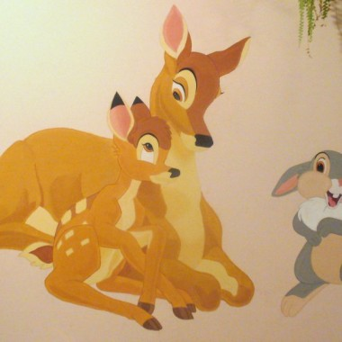 Bambi- malunek na ścianie