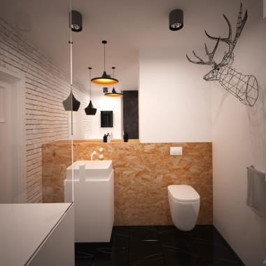 Projekt łazienki z jeleniem