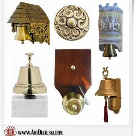 stylowe dzwonki elektryczne i porcelanowe