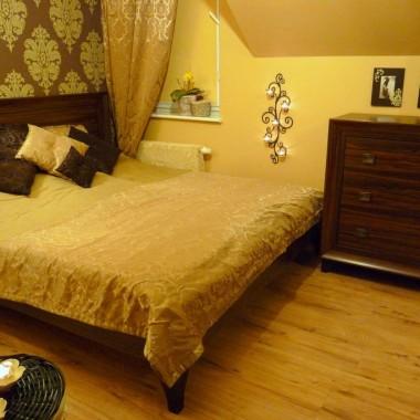 Moja KARMELOWO-CZEKOLADOWA sypialnia