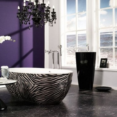 Fiolet w łazience