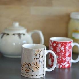 Kubki ceramiczne z motywem kaszubskim