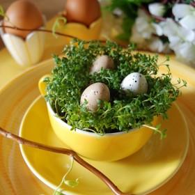 Wielkanocna aranżacja stołu