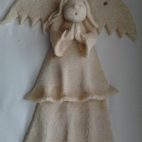 W trakcie robienia aniołków zostało je tylko pomalować:)
