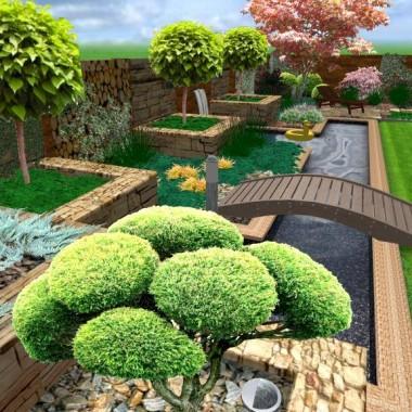 Proste kontury połączone z zielonym przepychem to kolejny projekt wykonany przez projektantów Domek-ogrodnika.