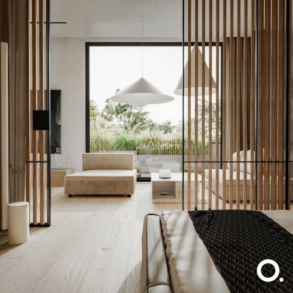 Domy i mieszkania, Uroda drewna - Dla Studio O. sekretem dobrze zaprojektowanej przestrzeni jest odwaga w eksperymentowaniu z fakturami, tonami i kolorem drewna. Odpowiednio dobrana drewniana podłoga, zabudowa salonu czy kuchni, czy przesuwane drzwi wzorowane na japońskich partycjach, mogą stać się fantastycznym tłem dla kontrastujących z naturalnym surowcem obrazów, grafik, rzeźb, mebli i roślin.   Drewniane elementy znakomicie wpasowują się w każde zaprojektowane przez Studio O. wnętrze. Zestawiając je na wiele sposobów Aga i Grzegorz za każdym razem uzyskują ciekawe i zaskakujące efekty.