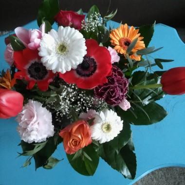 bukiet wiosennych kwiatów :)