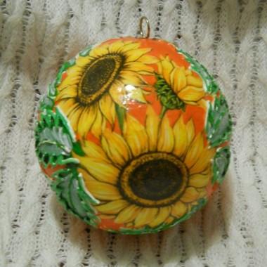 pomarańczowa bombka słonecznikowa