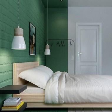 Cegła w sypialni jest świetnym pomysłem. Pomimo surowego, industrialnego charakteru może stworzyć wnętrze ciepłe, przytulne i bardzo gustowne.