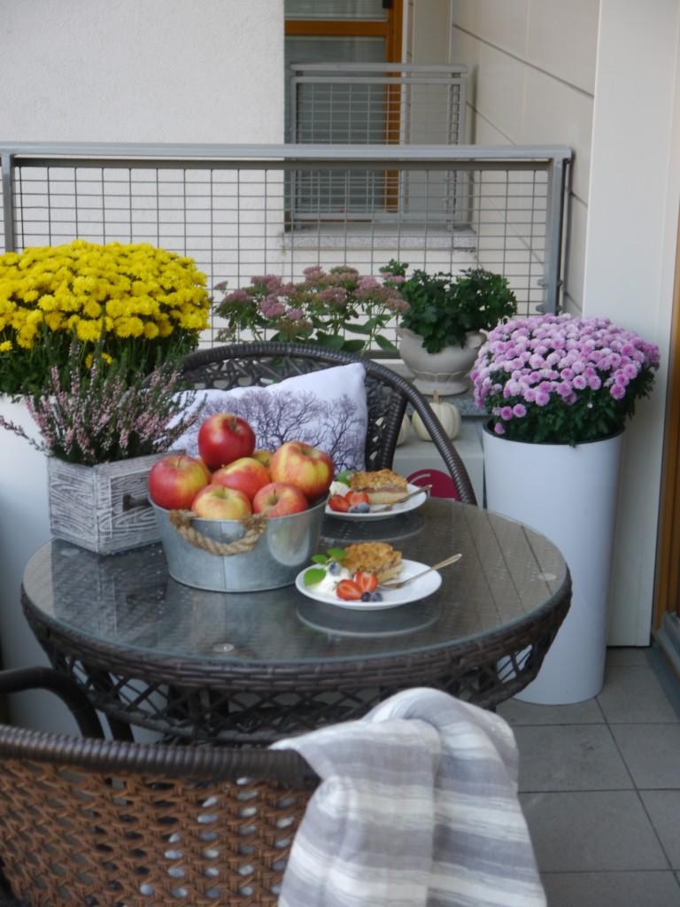 Balkon, Ostatnie ciepłe dni jesieni