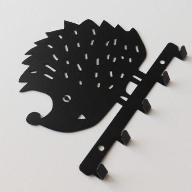 Metalowy wieszak ścienny na ubrania klucze - JEŻ
