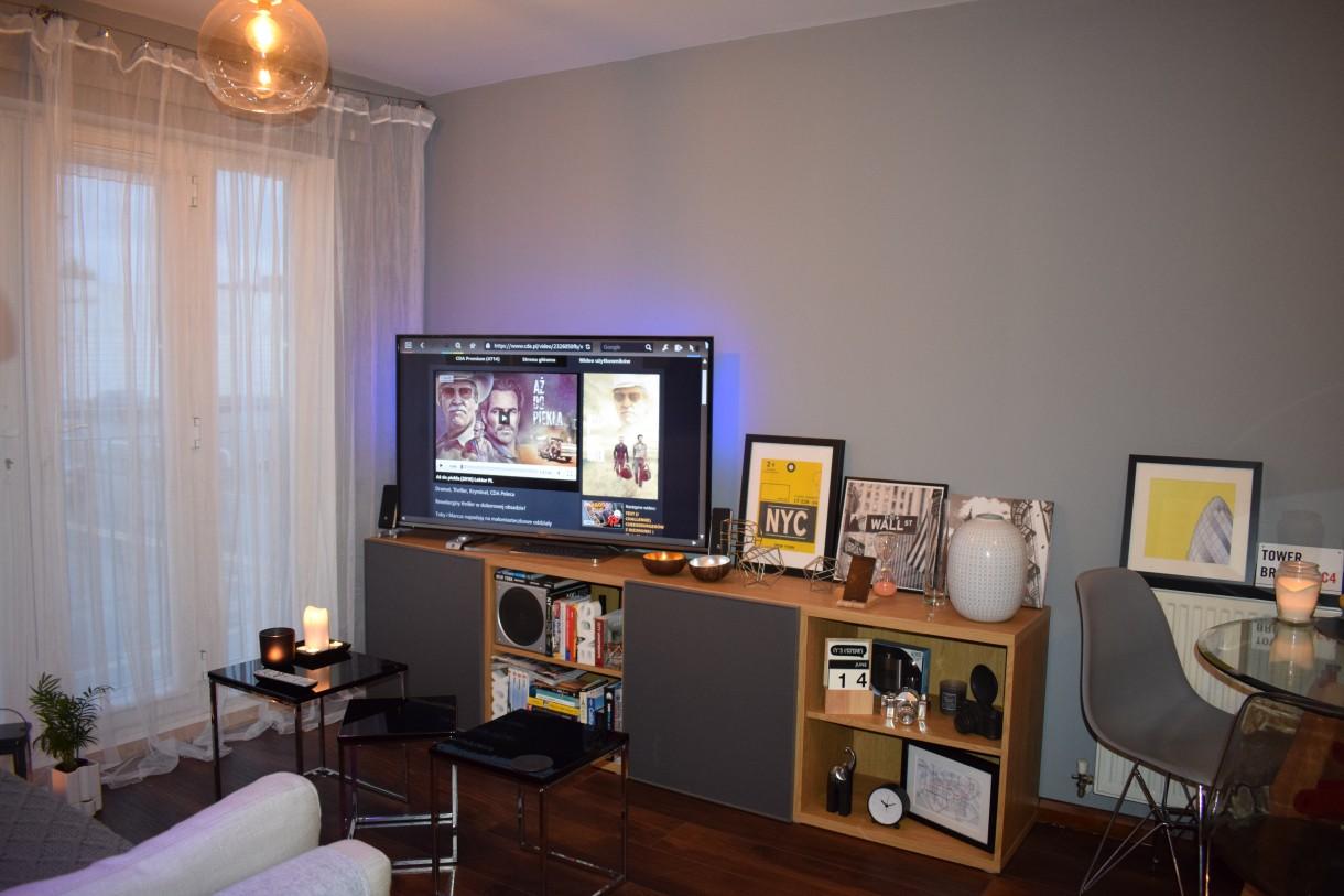 Salon, mieszkanie , kawaler - Salon ikea Besta