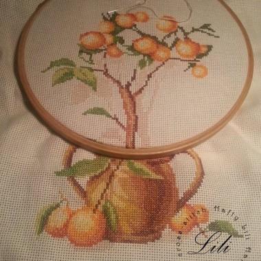praca w toku - haft krzyżykowy - drzewka2