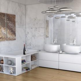 Aranżacje łazienek. Minimalistyczne łazienki Luxum