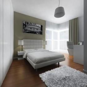 Sypialnia w beżach i bieli