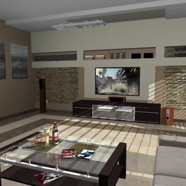 Pokój kinowy lub, jak kto woli... telewizyjny...:)