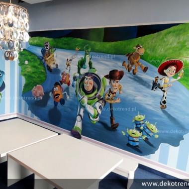 artystyczne malowanie ścian, malowidła ścienne, malunki na ścianie, pokój dziecięcy, pokój dla dziecka, pokój dla dziewczynki, pokój dla chłopca, dekoracja ścian, Toy Story