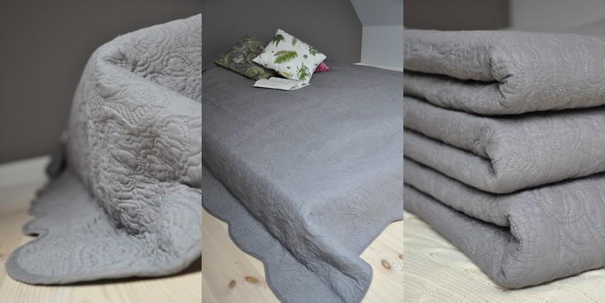 Pozostałe, narzuty dekoracyjne na łóżka z tendom.pl - http://tendom.pl/products/narzuta-grey-260x260cm