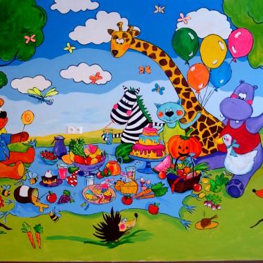 Dla dzieci :) Artystycznie malowane ściany
