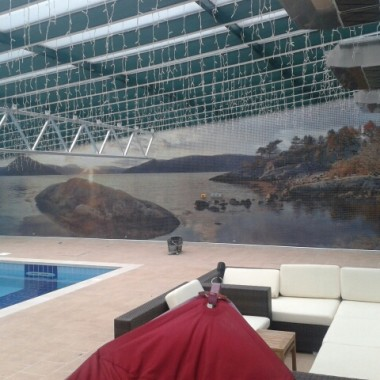 fotomozaika szklana na basenie 2