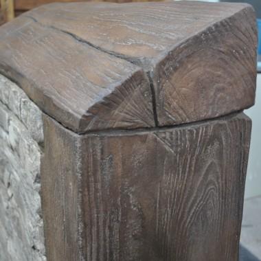 IMITACJA drewnianej belki i kamieni