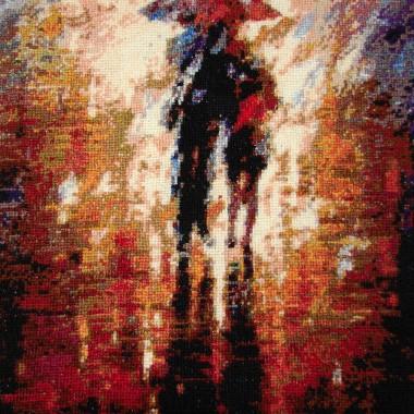 """Krzyżykowy obraz """"Razem w burzę"""""""