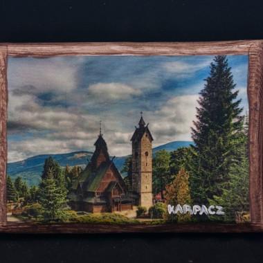 Obrazki decoupage na drewnie i obrabiane