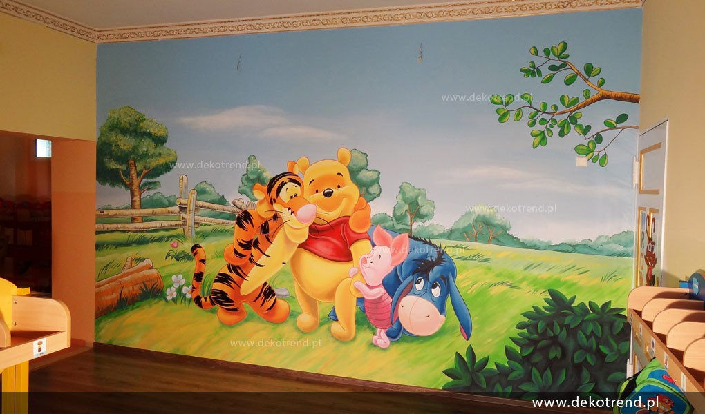 Kupię, Artystyczne malowanie ścian, malowidła dla dzieci, malunki - artystyczne malowanie ścian, malowidła ścienne, malunki na ścianie, pokój dziecięcy, pokój dla dziecka, pokój dla dziewczynki, pokój dla chłopca, pokój dla dziewczynki, dekoracja ścian, Kubuś Puchatek