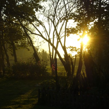 zachód słońca