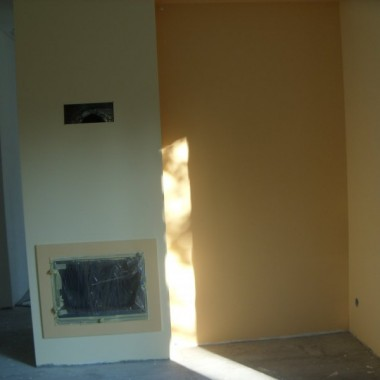 remont domku drewnianego c.d SALON