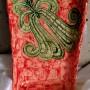 Sprzedam, Dekoracje domu - Czerwona patera ze wzorem wykonana z jasnej gliny, szkliwiona szkliwami spożywczymi. Wymiar: 28x17x4cm  waga: 916g, cena: 120zł