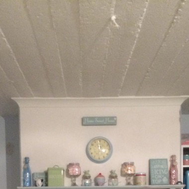 tak kiedyś było w kuchni:) i lampy nie było jeszcze :) dawno