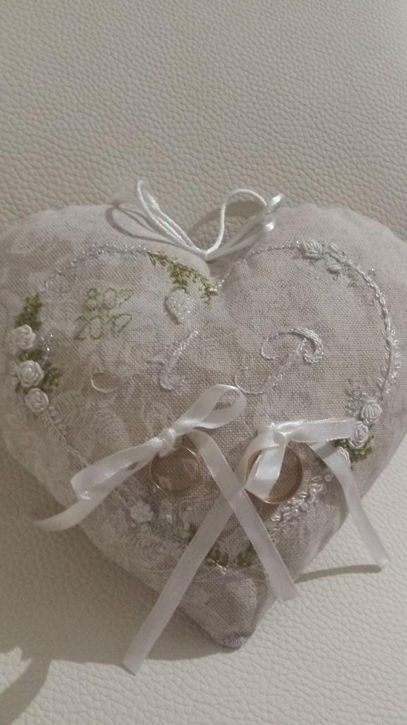 Poduszka na obrączki ślubne