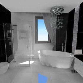 łazienka w domu , projekt DRIADA