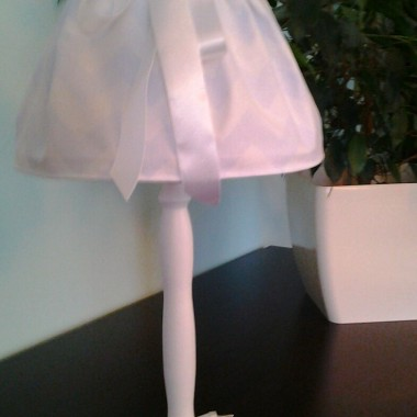 LAMPKA-błekitno biała