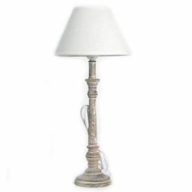 Lampy stołowe z drewnianymi nogami