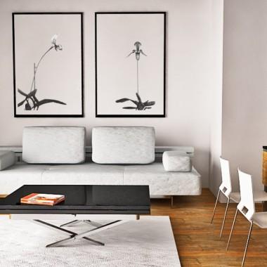 salon, wypoczynek, sofy, drewno, styl skandynawski