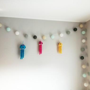 Ośmiorniczki do dekoracji pokoju lub do wózka dziecięcego.