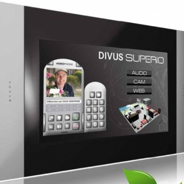 Panel dotykowy, płaski do sterowania i wizualizacji w systemach automatyki domowej, który może obsługiwać również wideofon i monitoring wizyjny domu. Olbrzymi wybór ramek.