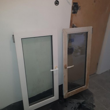 Okno prze umyciem i po kąpieli