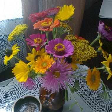 Bukiety zrobione z kwiatów z mojej działeczki