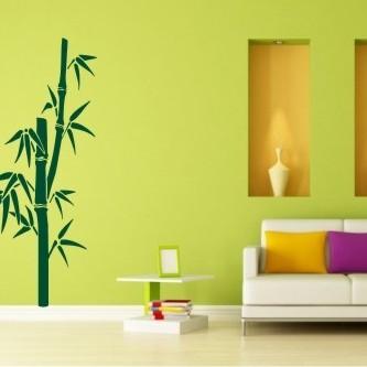 Naklejka na ścianę bambusy - wizualizacja / NaklejkiOzdobne