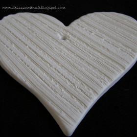 Ceramiczne serca decoupage