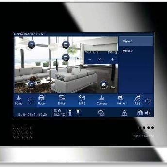 Nowy panel dotykowy do systemów inteligentnego domu KNX firmy Busch-Jaeger.