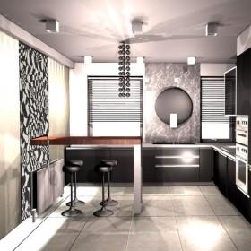 czarny lakier- kuchnia