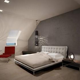 Sypialnia z garderobą z luster na poddaszu