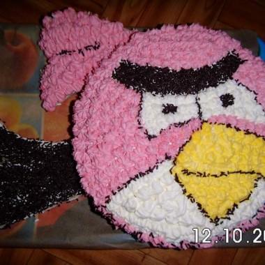 Tort Angry Birds dla 6 latka :) Czapeczka dla corci :)