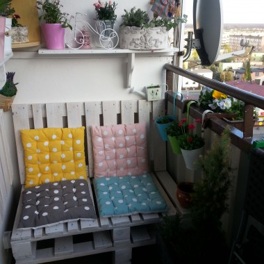 Balkon- ławeczka z palet