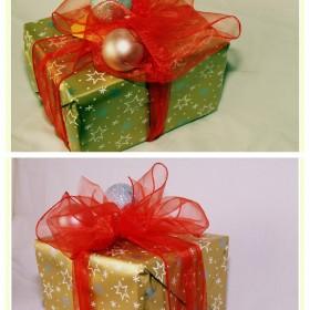 Pakowanie prezentów gwiazdkowych