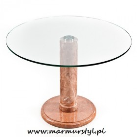 Stoliki marmurowo-szklane